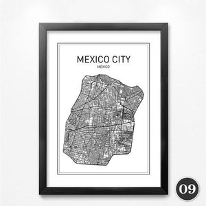 City Map Canvas Wall Art