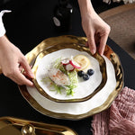 Premium™ - White & Gold Dinnerware Set
