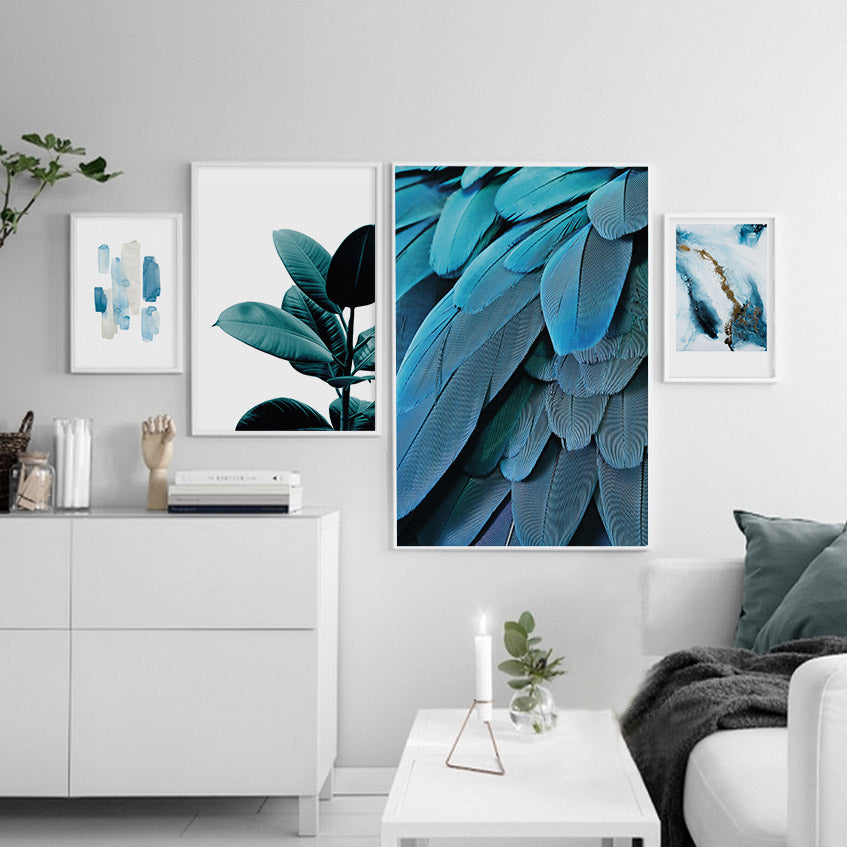 Abstract Leaves Canvas Wall Art