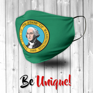 Washington State Flag USA Face Mask