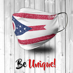 Ohio State Flag USA Distressed Effect Face Mask