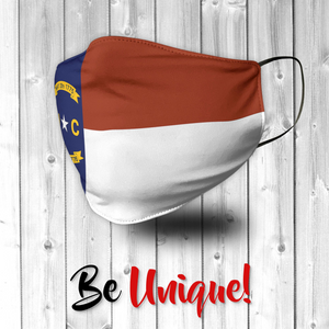 North Carolina State Flag USA Face Mask