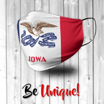 Iowa State Flag USA Face Mask