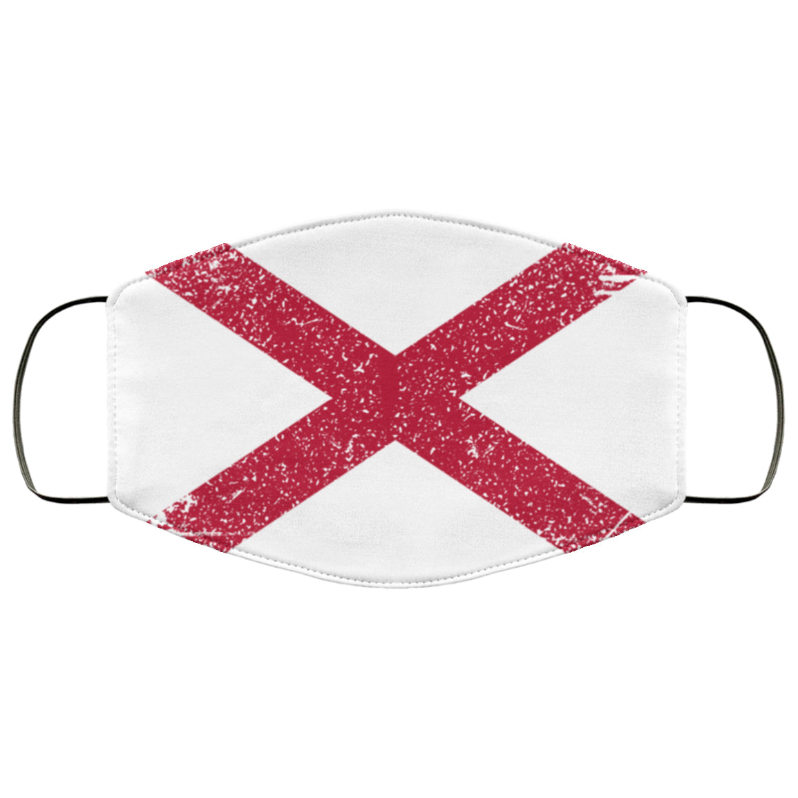 Alabama Flag USA Distressed Effect Face Mask