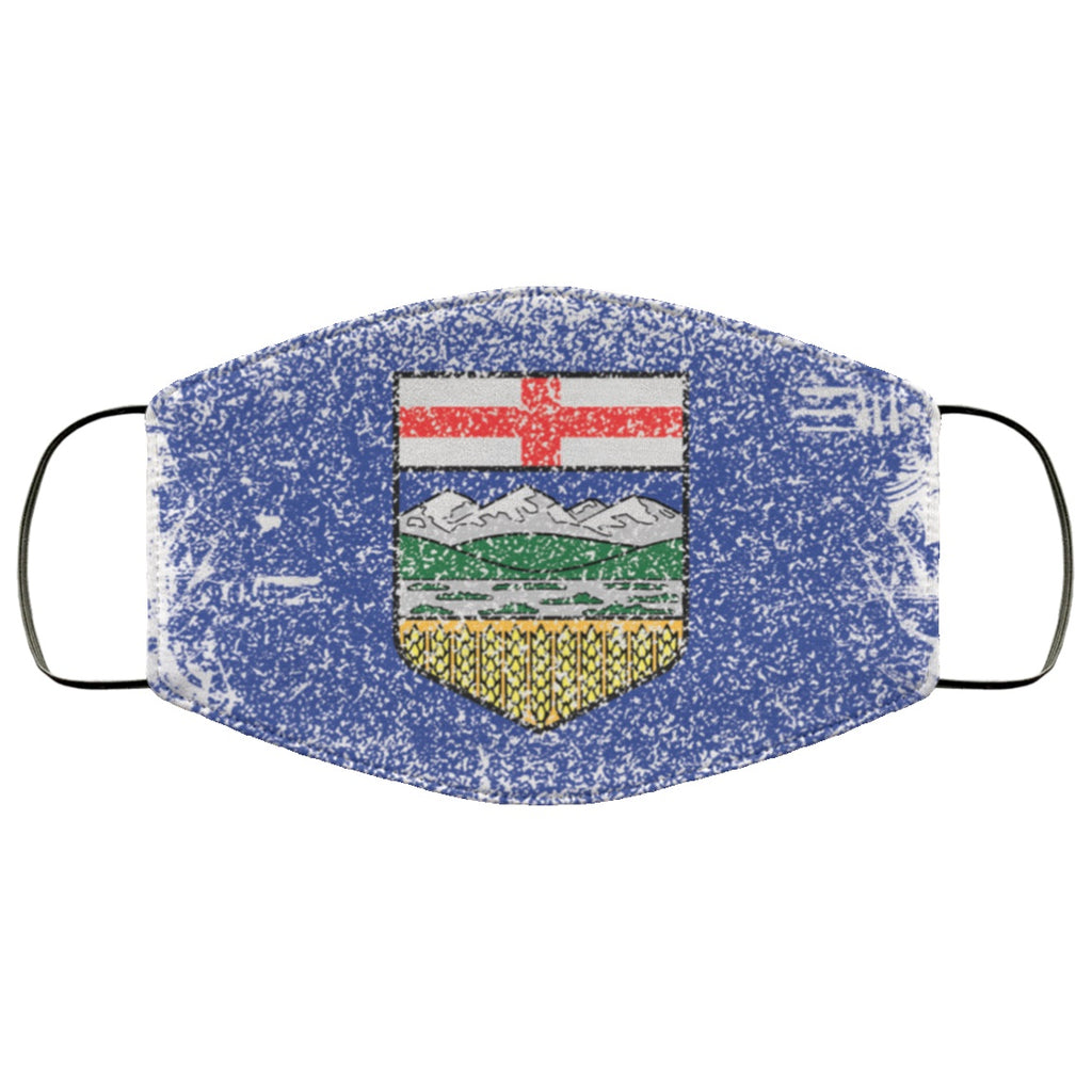 Alberta Flag Distressed Effect Face Mask