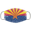Arizona State Flag USA Distressed Effect Face Mask