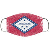 Arkansas State Flag USA Distressed Effect Face Mask