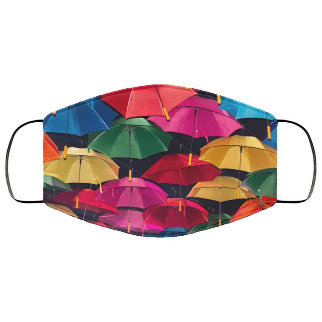 Bright Umbrellas Face Mask