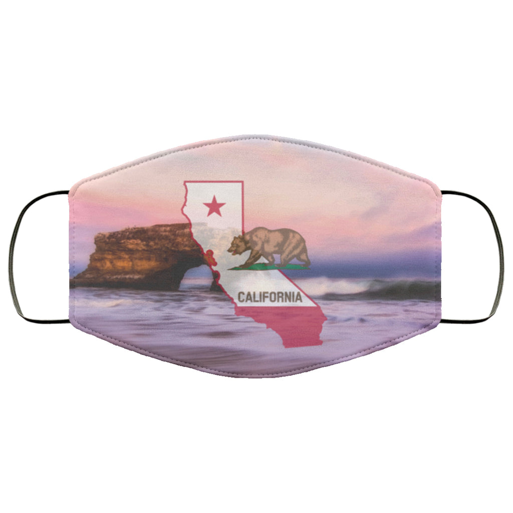 California Flag Coast Face Mask