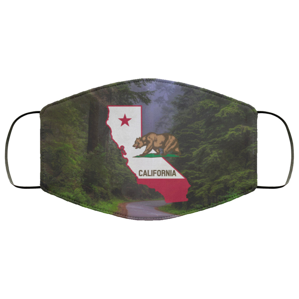 California Flag Redwoods Face Mask