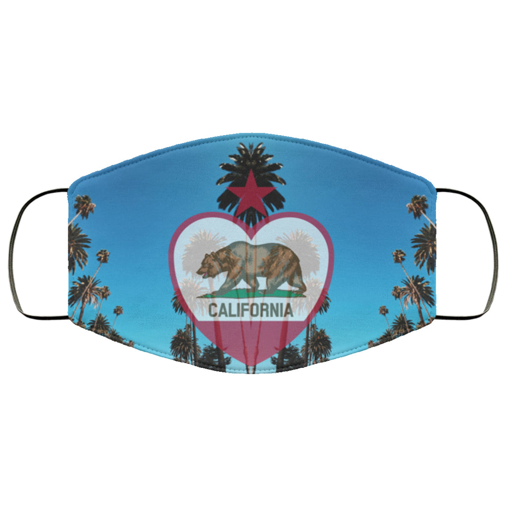 California Flag Palms Face Mask