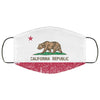 California State Flag Distressed Effect Face Mask