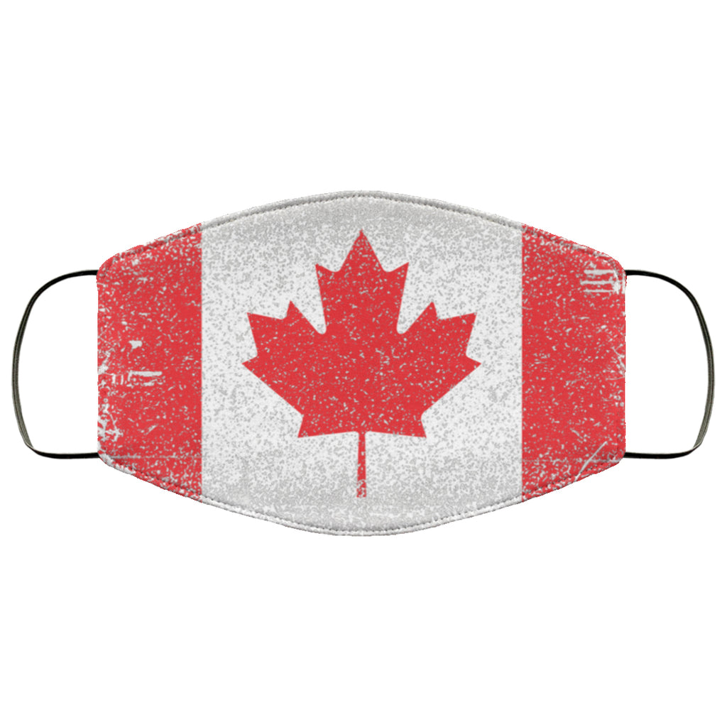 Canada Canadian Flag Distressed Effect Face Mask