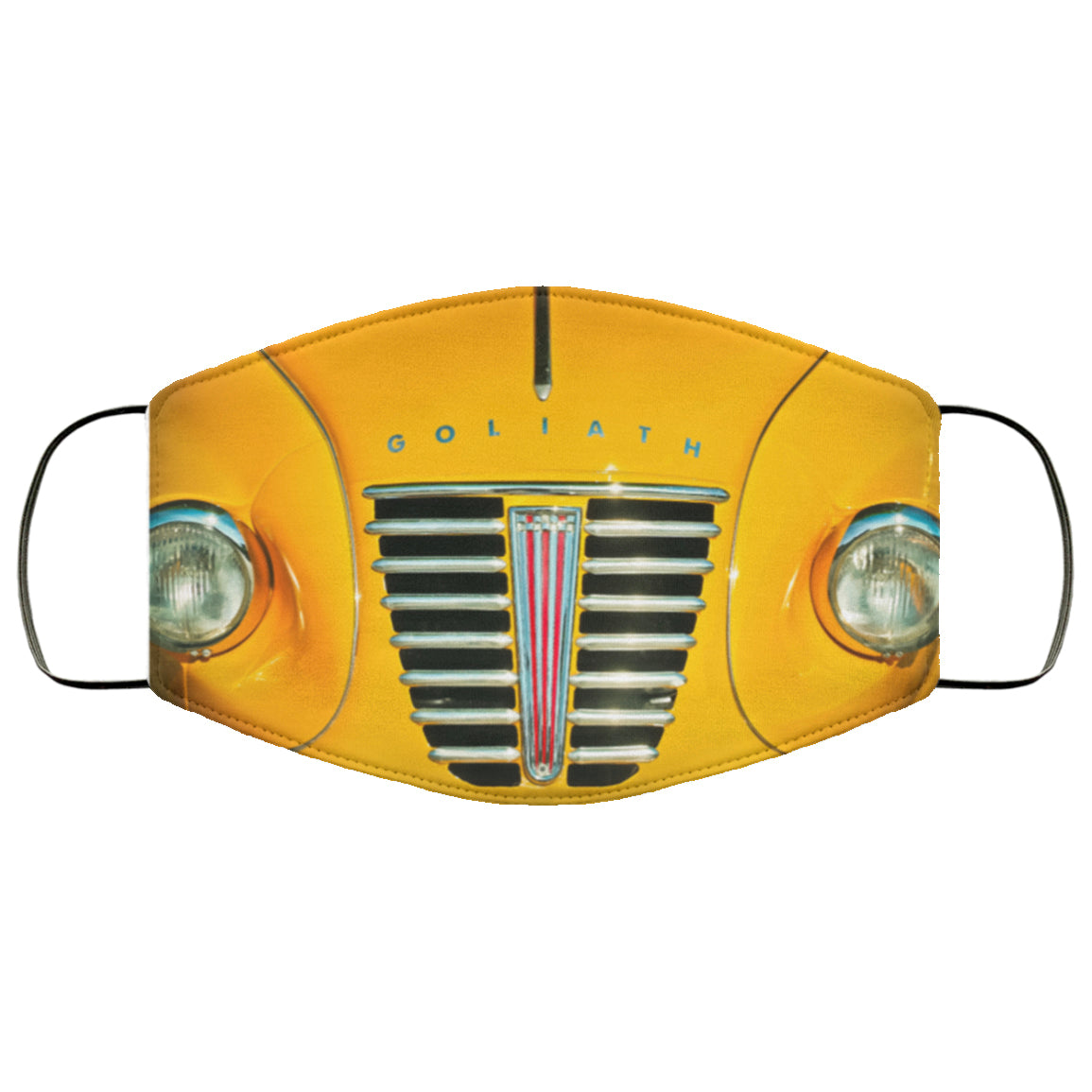 Classic Car Grill Yellow Goliath Face Mask