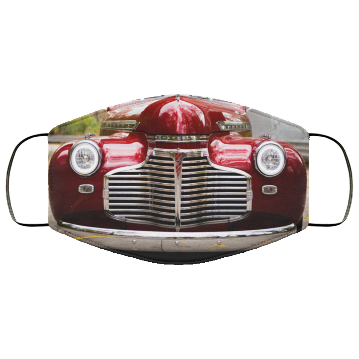 Classic Car Grill Chevrolet Face Mask
