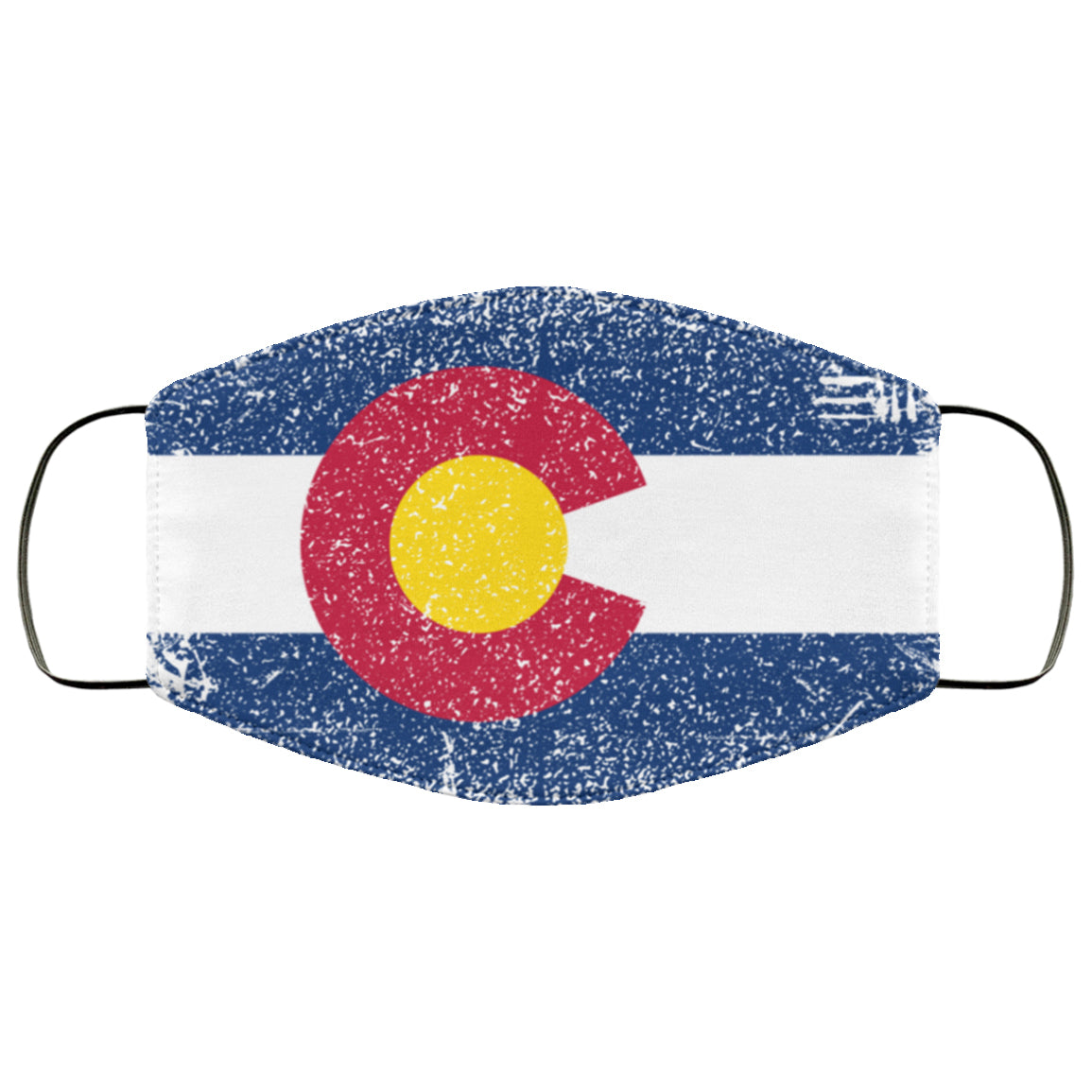Colorado State Flag USA Distressed Effect Face Mask