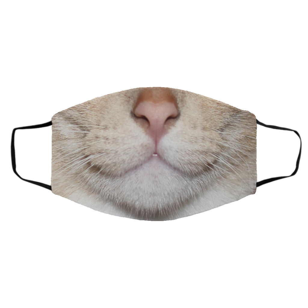 Smile Smiling Smiley Cat Face Mask