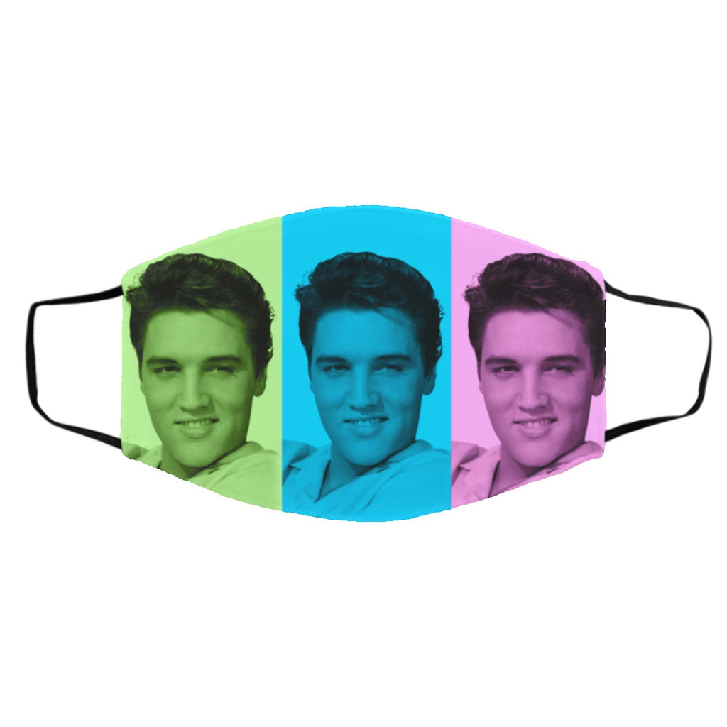 Elvis Presley Smiley Man Colorful Face Mask