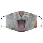 Cat Kitty Yawn Cute Funny Face Mask