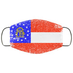 Georgia State Flag USA Distressed Effect Face Mask