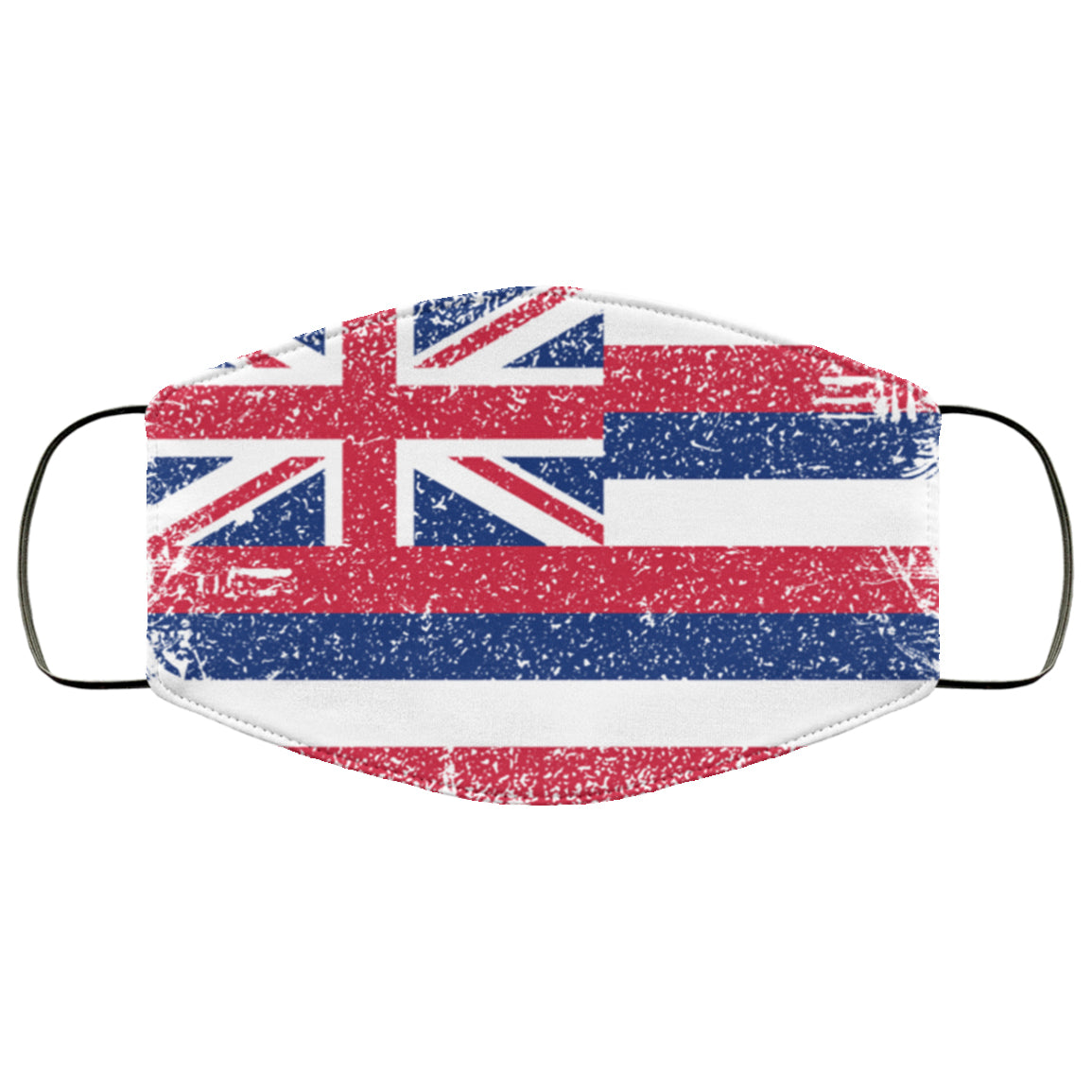 Hawaii State Flag USA Distressed Effect Face Mask