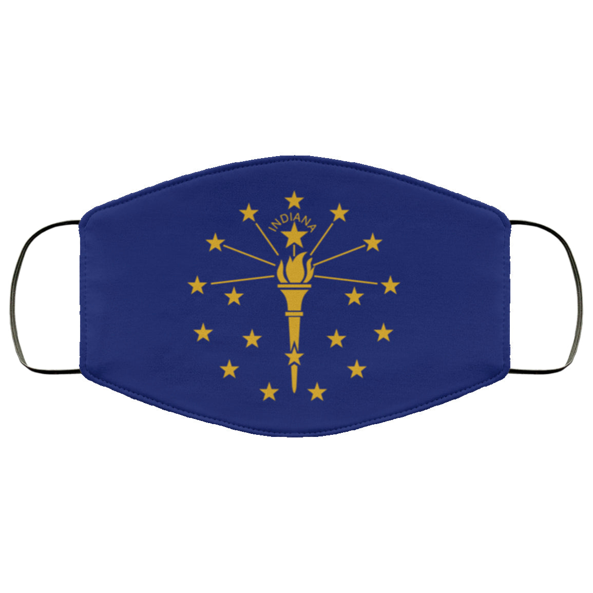 Indiana State Flag USA Face Mask