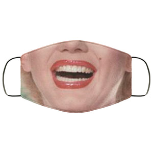 Marilyn Smile Face Mask