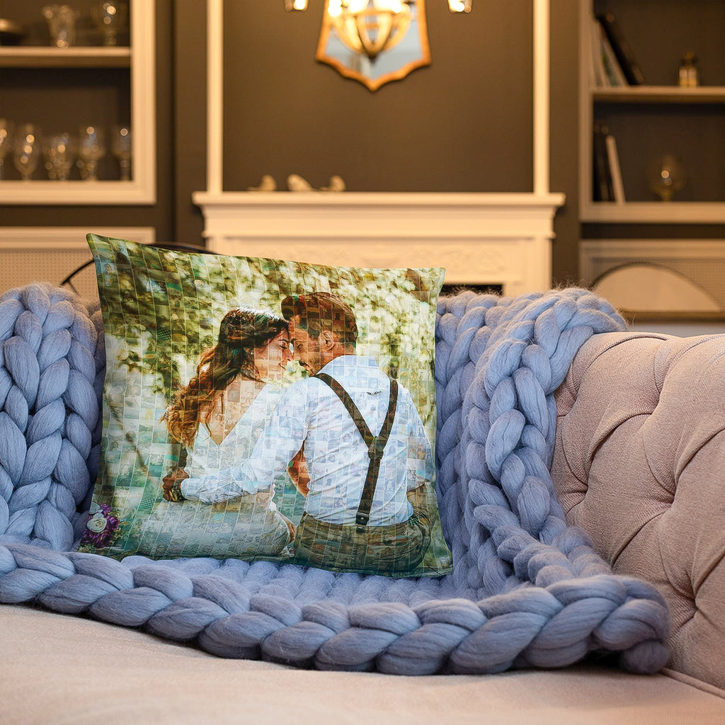 Personalized Photo Mosaic Throw Pillows