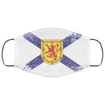 Nova Scotia Canada Flag Distressed Effect Face Mask