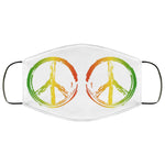 Rasta Peace Symbol Face Mask