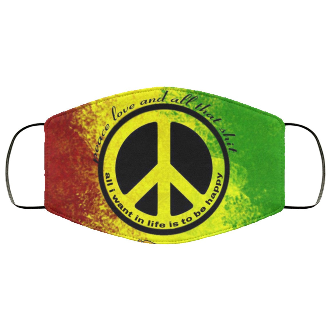 Peace Reggae Rasta Face Mask
