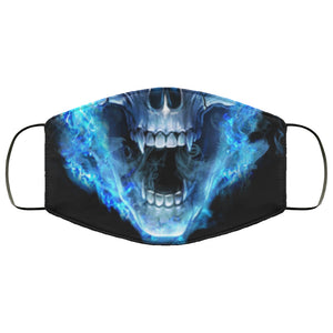 Scary Skull Flames Face Mask