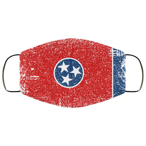 Tennessee State Flag USA Distressed Effect Face Mask