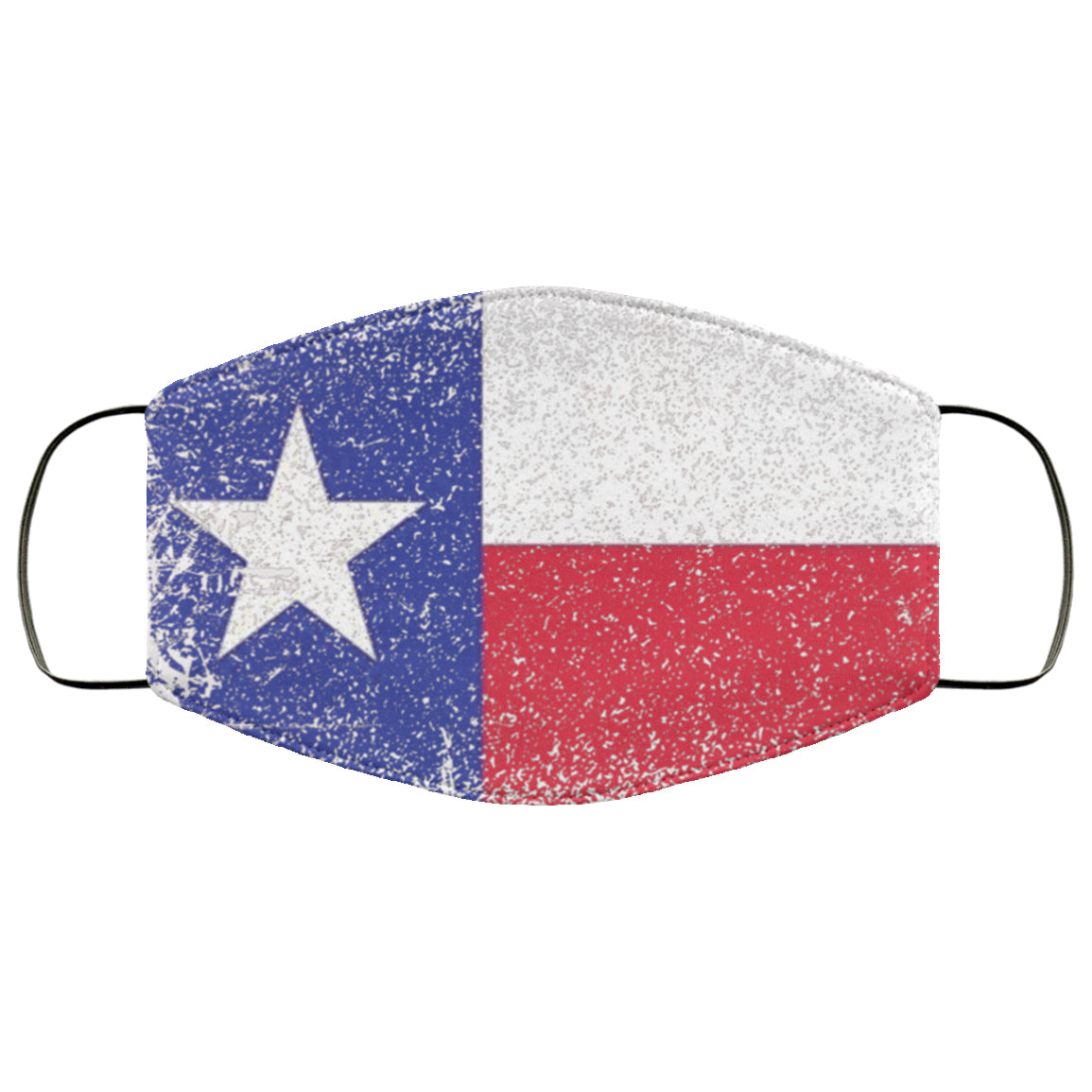 Texas Flag Distressed Effect Face Mask