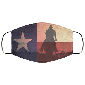 Texas State Flag Horseman Distressed Effect Face Mask