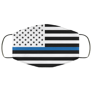 Thin Blue Line Police Law Enforcement Face Mask