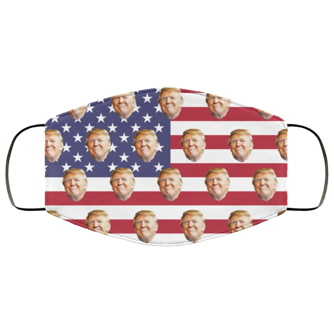 Trump on USA Stars and Stripes Flag Face Mask
