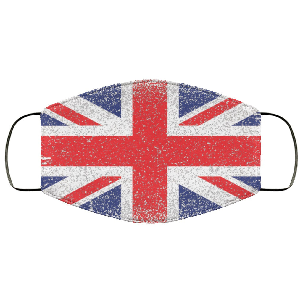 British Union Jack UK Flag Distressed Effect Face Mask