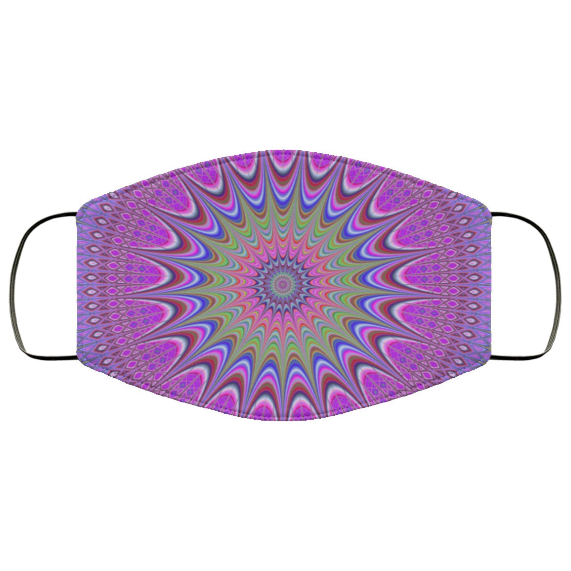 Violet Mandala Pretty Cute Colorful Pattern Face Mask
