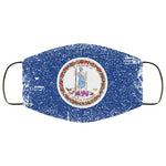 Virginia State Flag USA Distressed Effect Face Mask