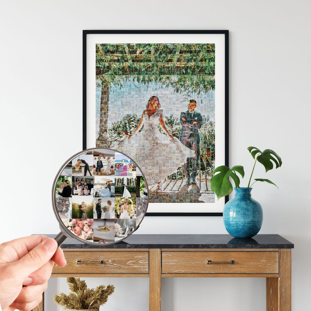 Personalized Photo Mosaic Poster