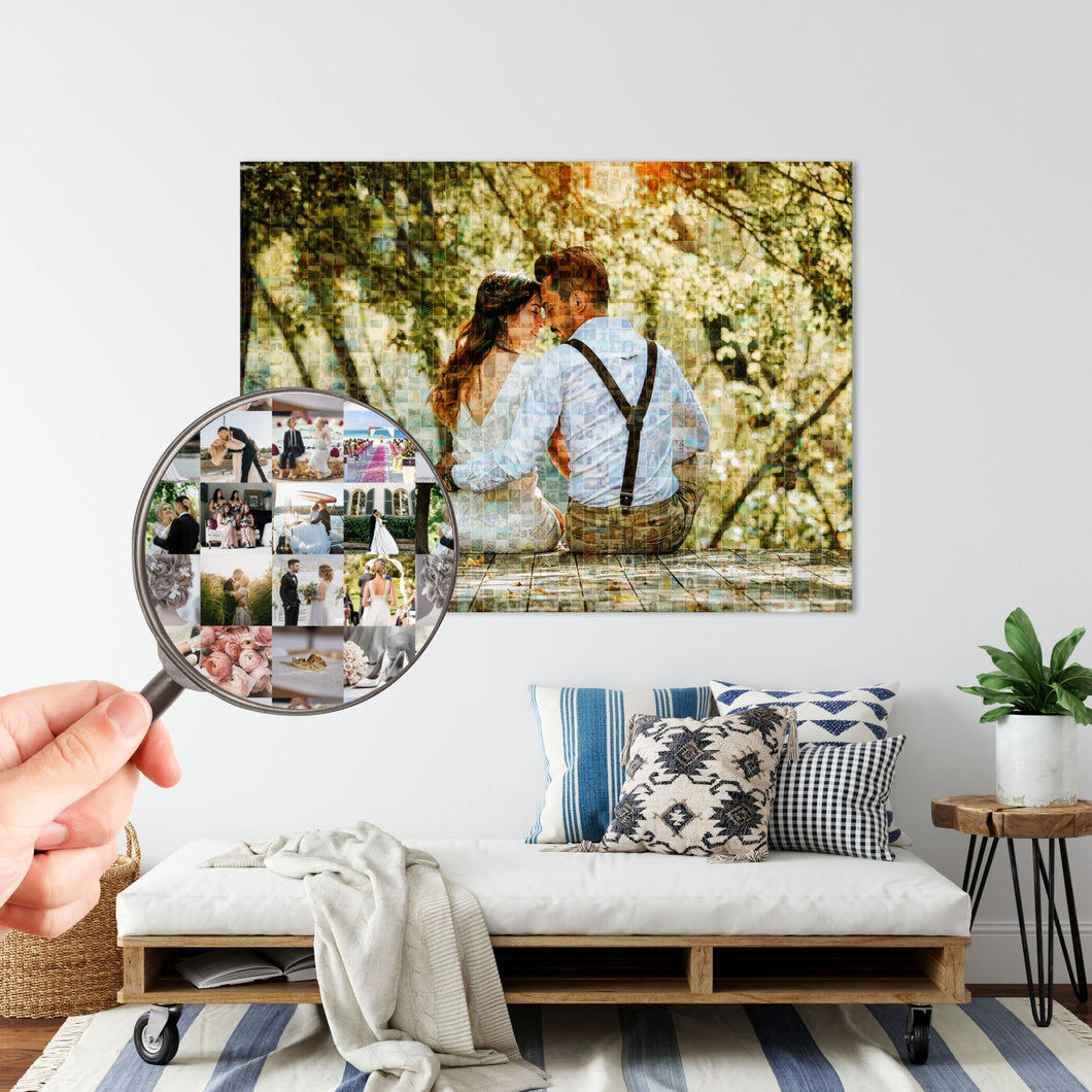 Personalized Photo Mosaic Canvas
