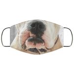 Bull Dog Cute Funny Face Mask