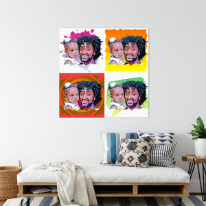 Personalized Pop Art Canvas Collage