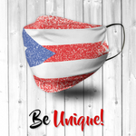 Puerto Rico Flag Distressed Effect Face Mask