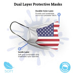 Trump USA Stars and Stripes Flag Face Mask
