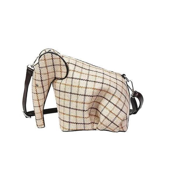 Plaid Elephant Mini Bag-Pordein