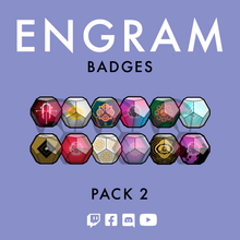 Load image into Gallery viewer, Destiny 2 engram Twitch subscriber badges designed by WildeThang at Loot Drop Graphics
