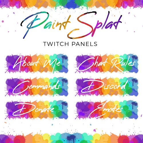 Loot Drop Graphics - Paint Splat Twitch Panels
