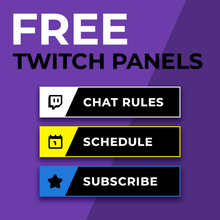 Load image into Gallery viewer, FREE Twitch Panels
